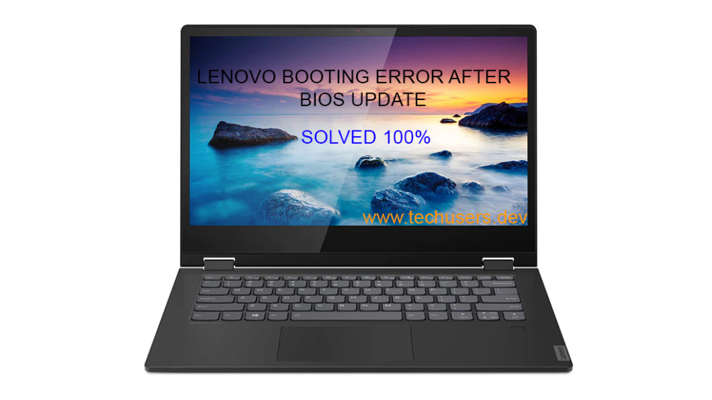 Windows is not booting after Bios Update in Lenovo