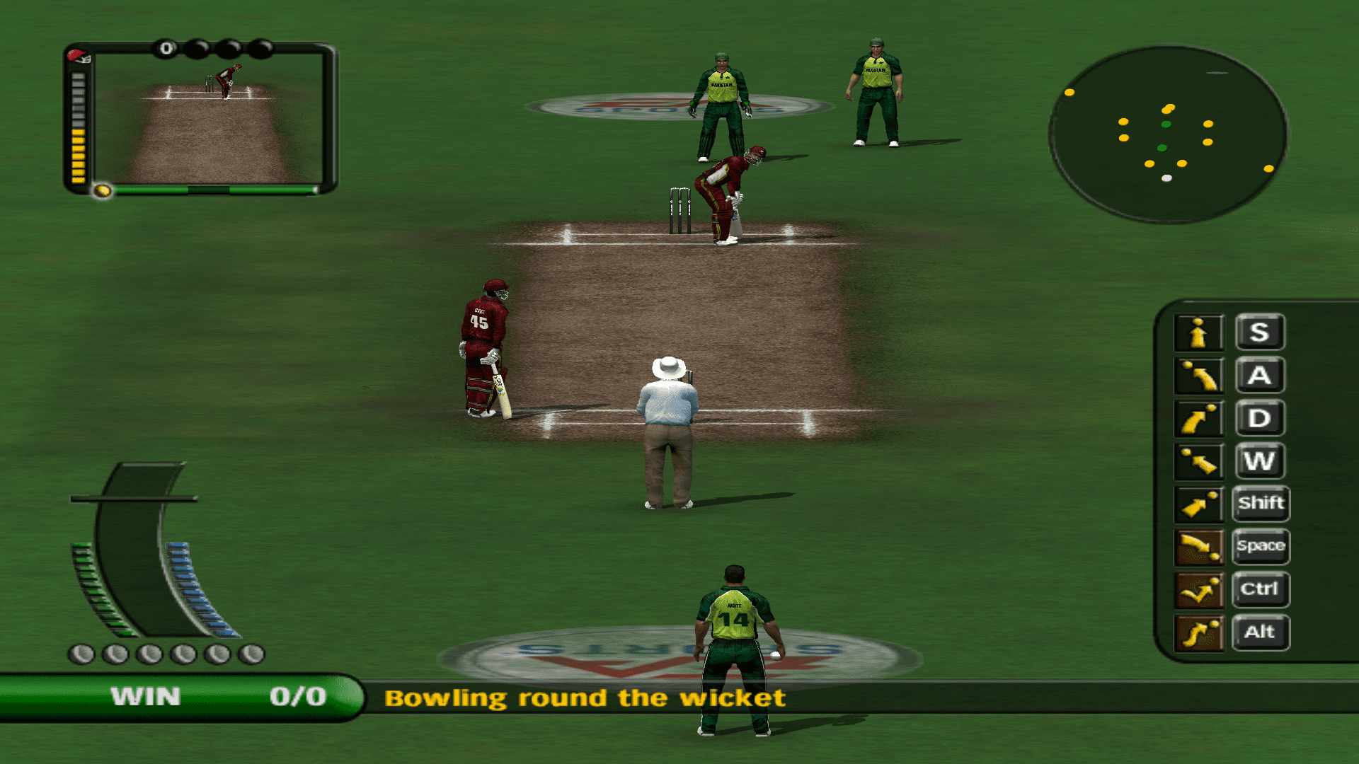 How to use Wireless keyboard as Game Controller to Play EA Cricket 2007 as Two Player Mode